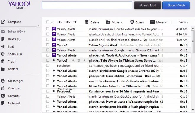 yahoo mail comment transferer un mail