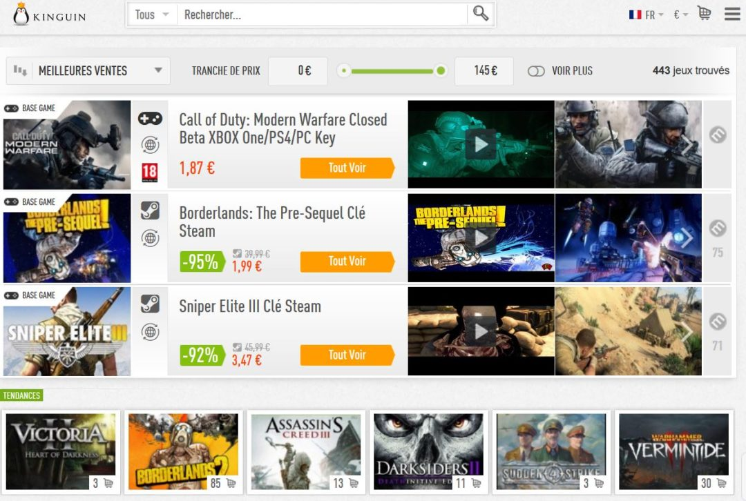 kinguin avis plateforme jeux videos en ligne 2